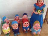 Figur sæt- Snehvide og de syv små dværge