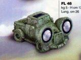 Marmor Solcellebil Truck med LED lys