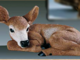 Dyr Rådyr kid – liggende – kunstdtof