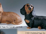 Gravhund  – Hvalp – sort – kunststof